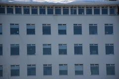 Windows costruzione moderna di Reykjavik, Islanda Fotografia Stock
