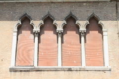 Windows with courtains in Venice Royalty Free Stock Photography