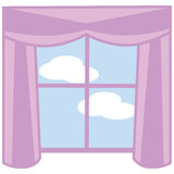 Windows and curtain Royalty Free Stock Image