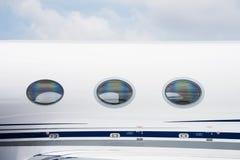Windows d'avion d'affaires Images stock