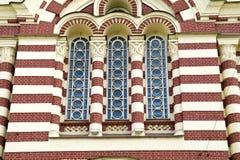 Windows da catedral Imagem de Stock