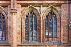Windows da igreja Imagem de Stock Royalty Free