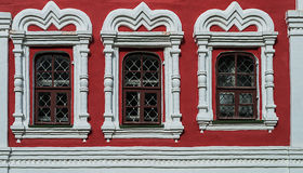 Windows da igreja ortodoxa velha Foto de Stock Royalty Free