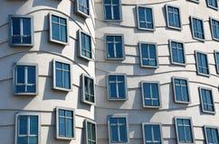 Windows of Dancing house, Prague Royalty Free Stock Image
