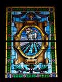 Windows dans l'église d'ortigia Photo libre de droits