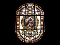 Windows dans l'église d'ortigia Photos libres de droits
