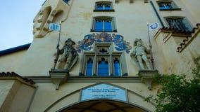 Windows dans le château de Hohenschwangau Image stock