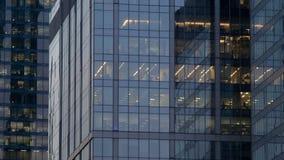 Windows dans les gratte-ciel de la ville de Moscou Images stock