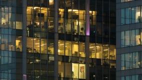 Windows dans les gratte-ciel de la ville de Moscou Photo libre de droits