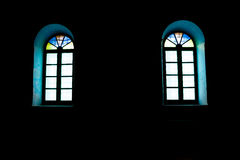 Windows in the dark Stock Images
