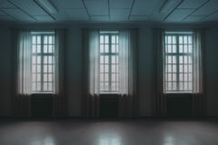 Windows in a Dark Room Royalty Free Stock Image