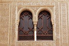 Windows de Alhambra, Granada - Andalucía, España Fotografía de archivo