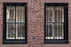 Windows de Boston foto de archivo