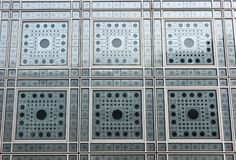` Windows de Institut du Monde Arabe do ` Foto de Stock