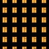 Windows de la casa a gran altitud en la noche Foto de archivo libre de regalías