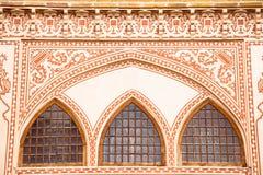 Windows de la casa histórica de Khan-e Ameriha Imágenes de archivo libres de regalías