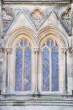 Windows de la catedral de Wells Imagen de archivo libre de regalías