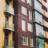 Windows de la construction moderne Photos libres de droits