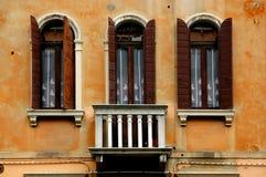 Windows de la serie de Venecia Foto de archivo libre de regalías