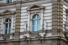Windows de la ville hôtel de Novi Sad Photo libre de droits