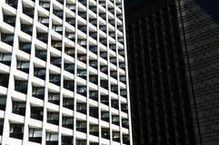 Windows de los edificios de oficinas Imágenes de archivo libres de regalías