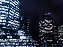 Windows de rascacielos en el centro de ciudad financiero en Europa foto de archivo libre de regalías