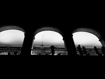 Windows de sombras Imágenes de archivo libres de regalías