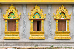 Windows de temple thaï Photos libres de droits