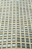 Windows de una construcción de viviendas Foto de archivo libre de regalías