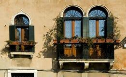 Windows de Venecia Fotografía de archivo libre de regalías