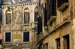 Windows de Venecia Foto de archivo libre de regalías