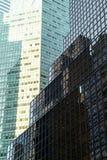 Windows degli edifici per uffici a New York Fotografia Stock