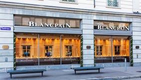 Windows del deposito di Blancpain a Zurigo fotografia stock