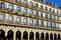 Windows del espacio de la constitución en San Sebastian Fotos de archivo libres de regalías