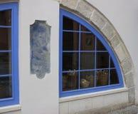 Windows del forno con i canestri di pane Immagine Stock Libera da Diritti