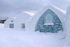Windows del hotel del hielo. Fotos de archivo libres de regalías