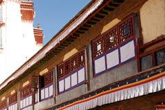 Windows del palacio de Potala en Lhasa, Tíbet Fotografía de archivo libre de regalías