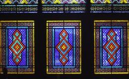 Windows del palazzo di Shaki Khans Fotografie Stock