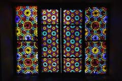 Windows del palazzo di Shaki Khans Immagine Stock Libera da Diritti