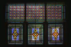 Windows del palazzo di Shaki Khans Fotografia Stock Libera da Diritti