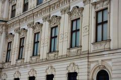 Windows del palazzo superiore di belvedere immagini stock libere da diritti