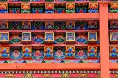 Windows del tempiale tibetano immagine stock libera da diritti