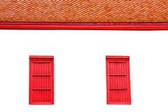 Windows del tempio Fotografia Stock
