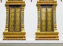 Windows del templo tailandés Fotografía de archivo libre de regalías