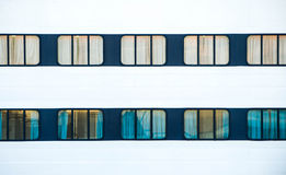 Windows del transbordador grande del océano Fotos de archivo libres de regalías