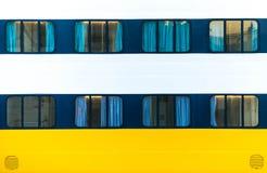Windows del transbordador grande del océano Foto de archivo