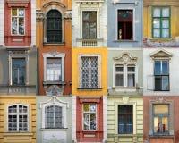 Windows dell'Ungheria (Szekesfehervar) Fotografia Stock Libera da Diritti