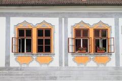 Windows della casa di rinascita nella corona di Zlata Immagini Stock