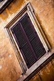Windows della città di Roma Fotografia Stock