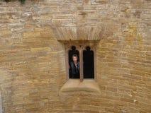 Windows della torre Fotografia Stock